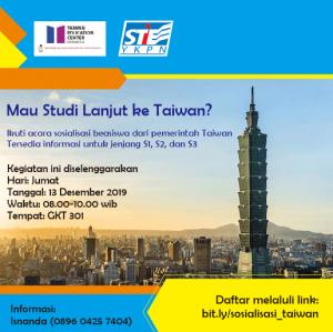Sosialisasi Perguruan Tinggi dan Beasiswa Pemerintah Taiwan