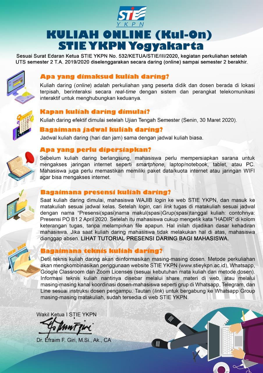 Kuliah Online (Kul-On) STIE YKPN Yogyakarta