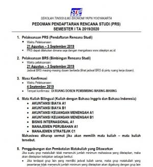 Pedoman Pengambilan KRS Semester Reguler (Ganjil) 2018/2019