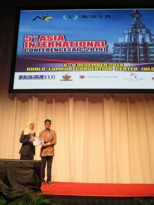 5th  ASIA INTERNATIONAL  CONFERENCE AIC 2019, Kuala Lumpur Convention Centre (KLCC), Kuala Lumpur,  Malaysia