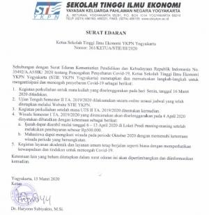 Surat Edaran Ketua Tentang UTS Online