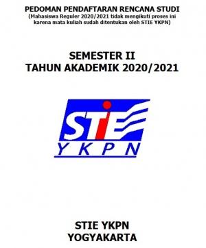 Pedoman Rencana Studi Sem 2 TA 2020/2021